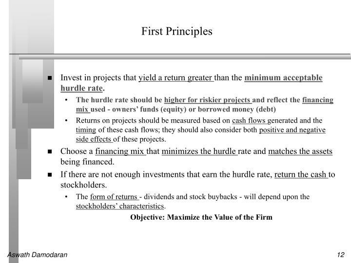 First Principles