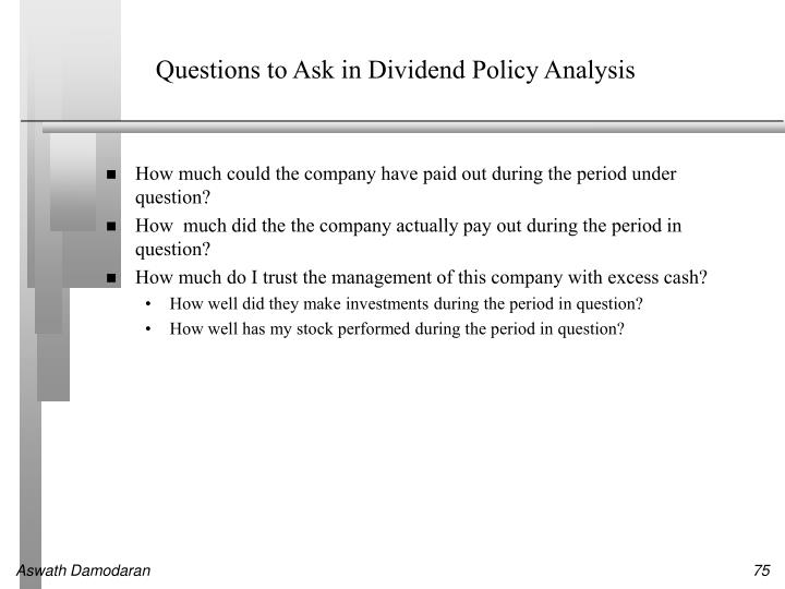 Questions to Ask in Dividend Policy Analysis