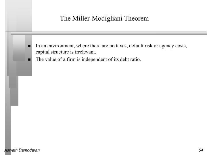The Miller-Modigliani Theorem