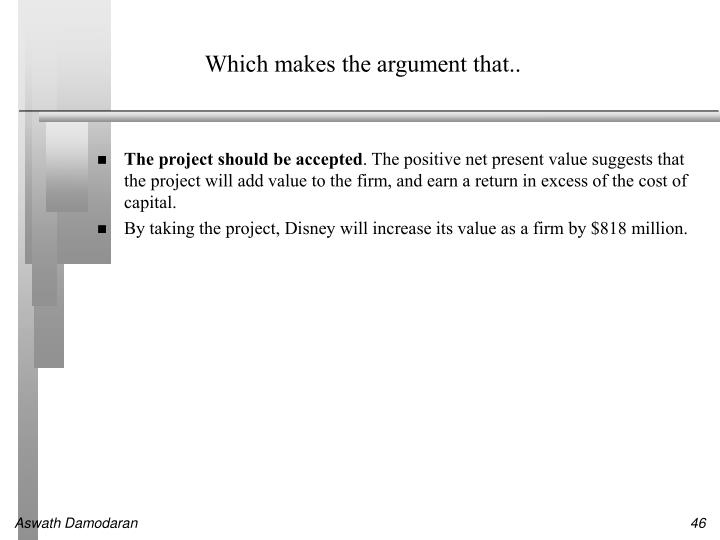 Which makes the argument that..