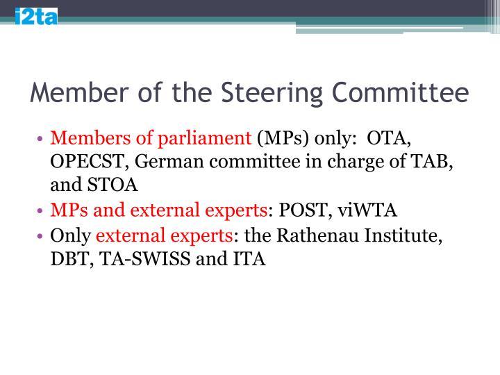 Member of the Steering Committee