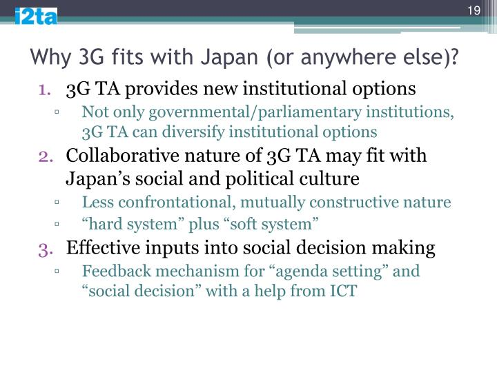 Why 3G fits with Japan (or anywhere else)?