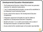 developmental education modularization