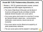 house bill 7135 postsecondary education cont