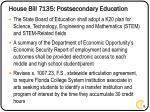 house bill 7135 postsecondary education