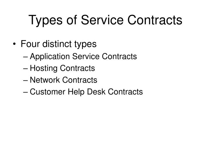 Types of Service Contracts