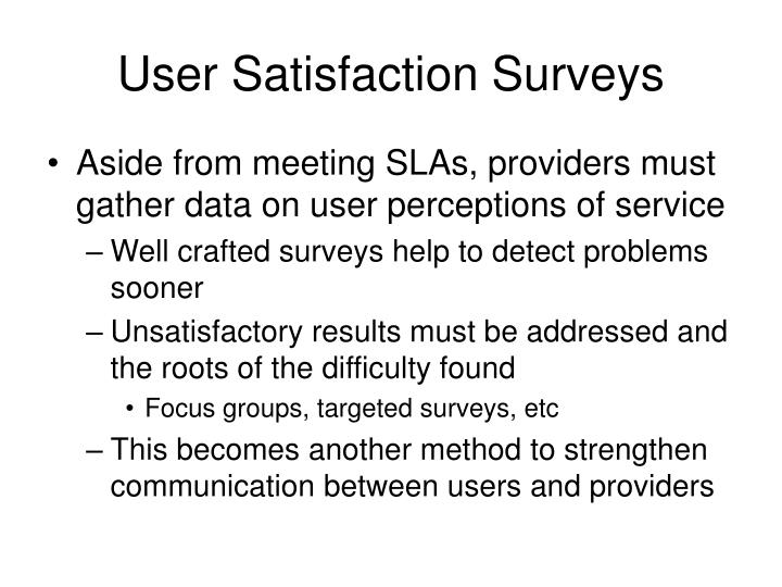 User Satisfaction Surveys