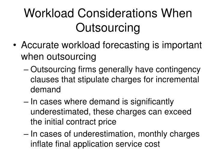 Workload Considerations When Outsourcing