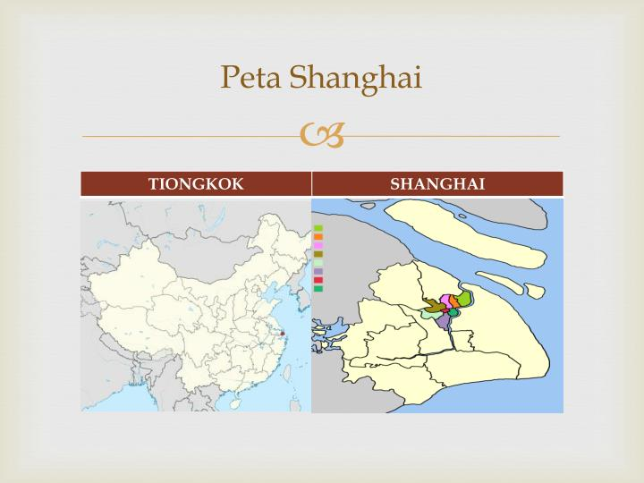 Peta shanghai