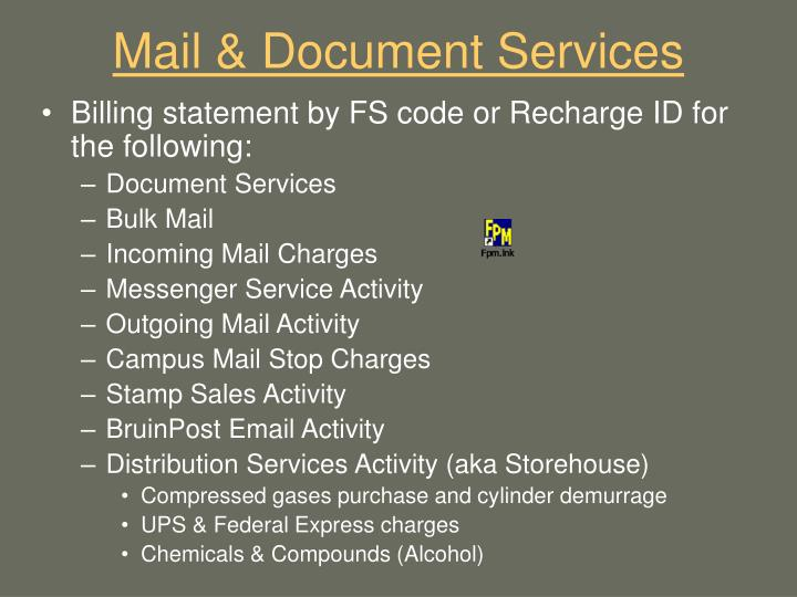 Mail & Document Services