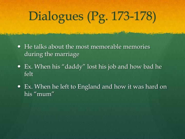 Dialogues pg 173 178