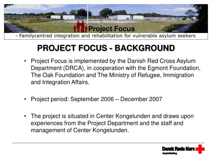 project focus background n.