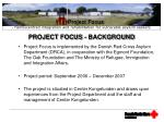 project focus background