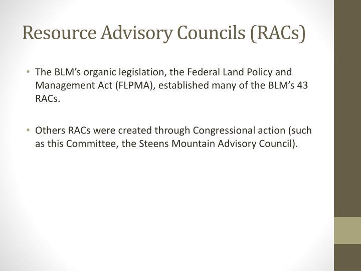 Resource advisory councils racs1