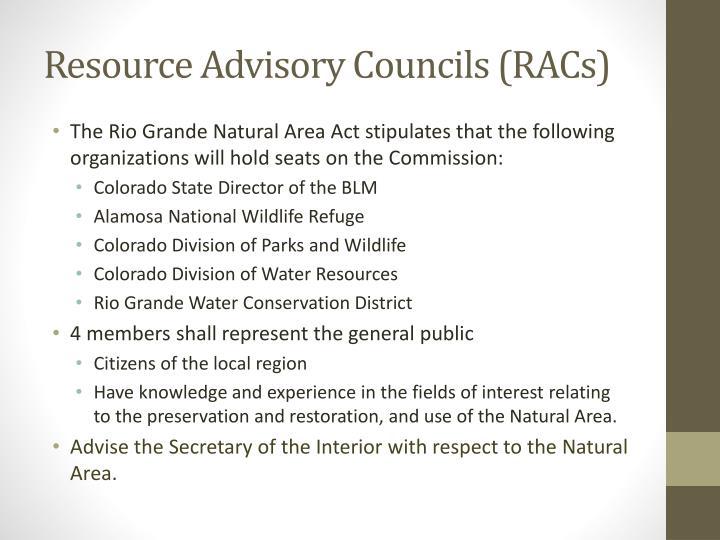 Resource Advisory Councils (RACs)