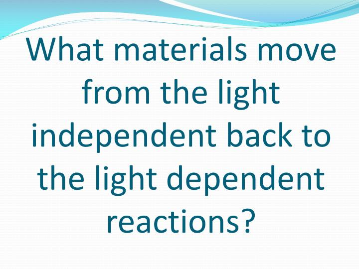 What materials move from