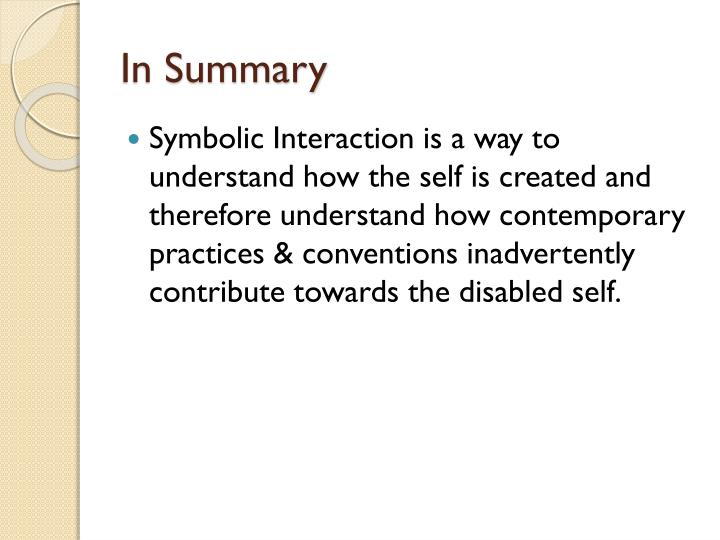 Ppt Symbolic Interaction A Theoretical Approach To Understanding