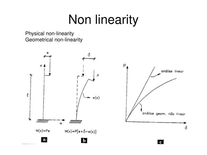 Non linearity