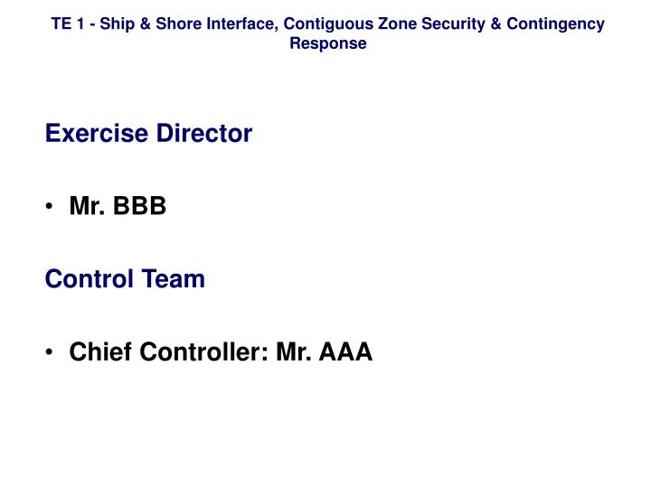 Exercise Director