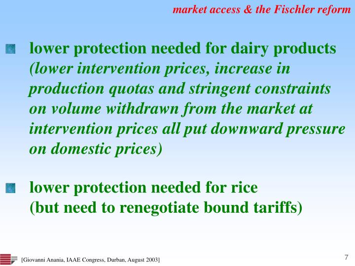 market access & the Fischler reform