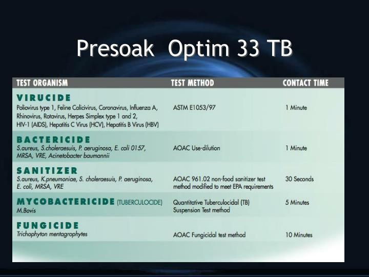 Presoak optim 33 tb