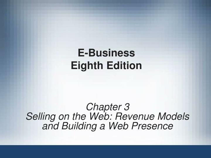 e business eighth edition n.