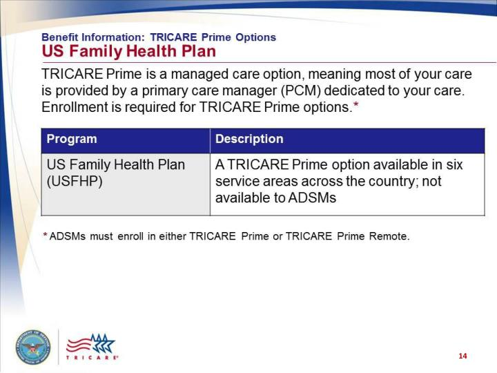 Benefit Information: TRICARE