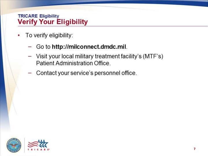 TRICARE Eligibility: Verify Your Eligibility