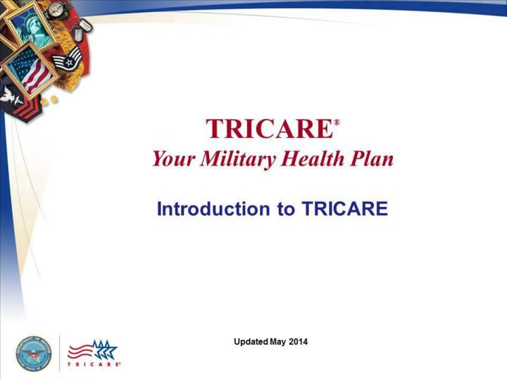 Tricare your military health plan introduction to tricare