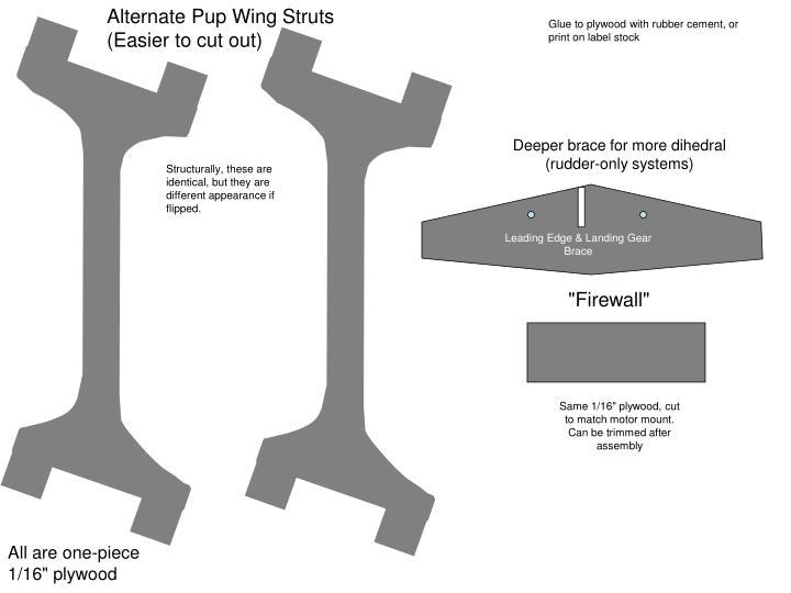 Alternate Pup Wing Struts