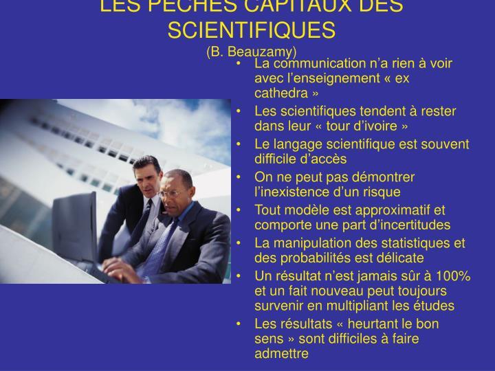 LES PÉCHÉS CAPITAUX DES SCIENTIFIQUES