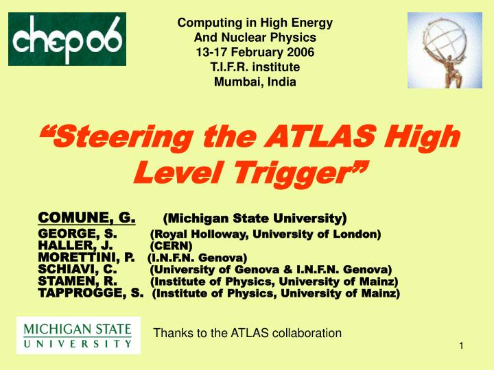 steering the atlas high level trigger n.