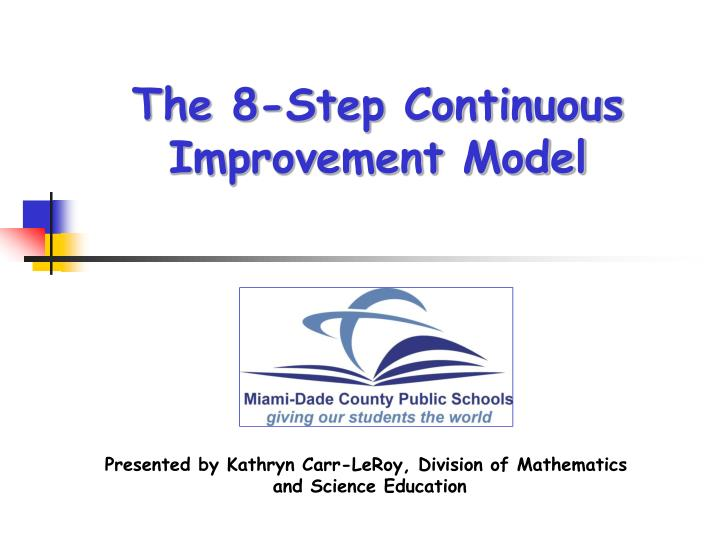 the 8 step continuous improvement model n.
