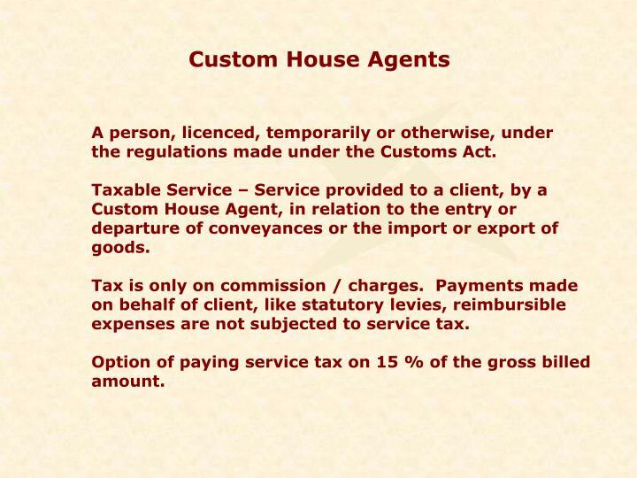 Custom House Agents