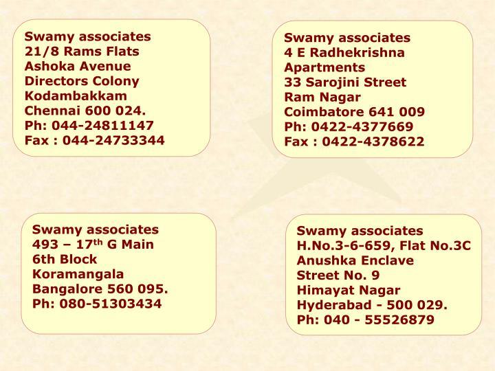 Swamy associates