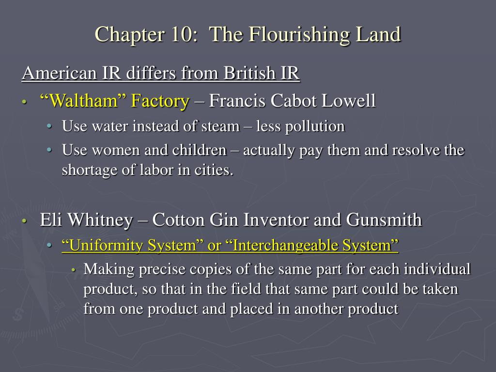 PPT - Chapter 10: The Flourishing Land PowerPoint