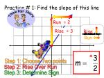 practice 1 find the slope of this line