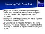measuring yield curve risk