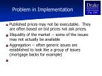 problem in implementation