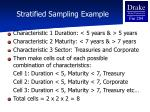 stratified sampling example