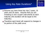 using key rate durations