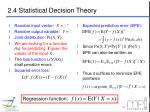 2 4 statistical decision theory