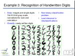 example 3 recognition of handwritten digits