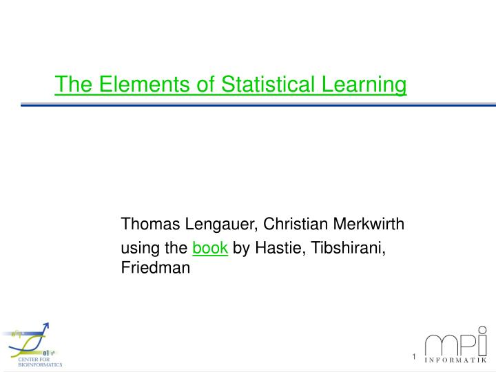 the elements of statistical learning n.