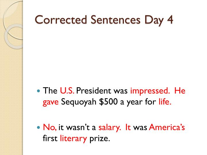 Corrected Sentences Day 4