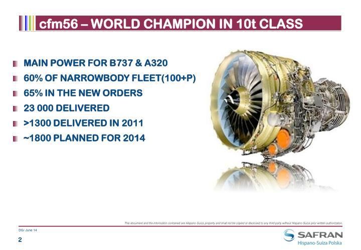 Cfm56 world champion in 10t class