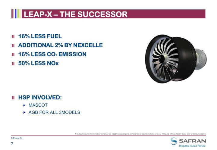 LEAP-X – THE SUCCESSOR