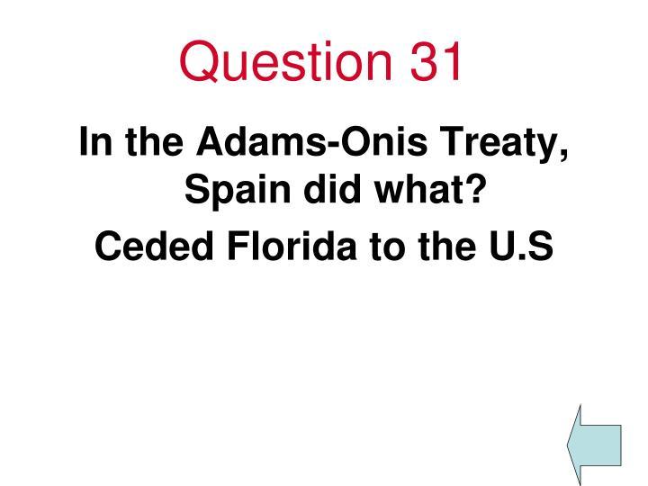 Question 31