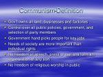 communism definition