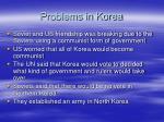 problems in korea